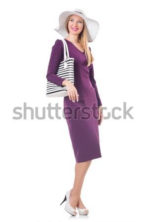 女性 袋 ファッション モデル 白 シャツ ストックフォト © Elnur