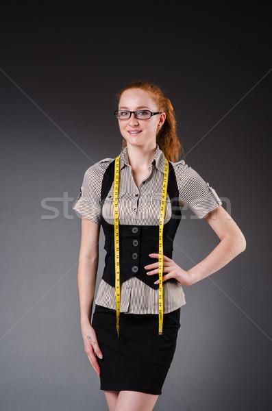 Kobieta krawiec pracy nowego sukienka moda Zdjęcia stock © Elnur