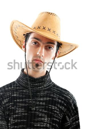 Jóvenes vaquero aislado blanco hombre retrato Foto stock © Elnur