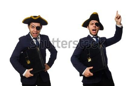 Uno pirata maletín espada aislado blanco Foto stock © Elnur