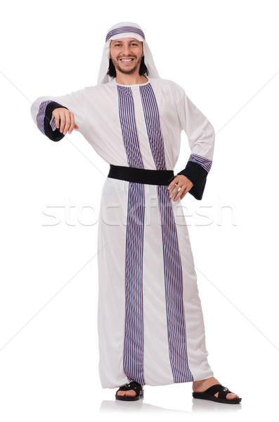 Stock fotó: Arab · férfi · izolált · fehér · üzlet · boldog
