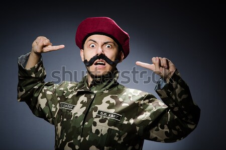 Soldato pistola grigio gun ritratto nero Foto d'archivio © Elnur