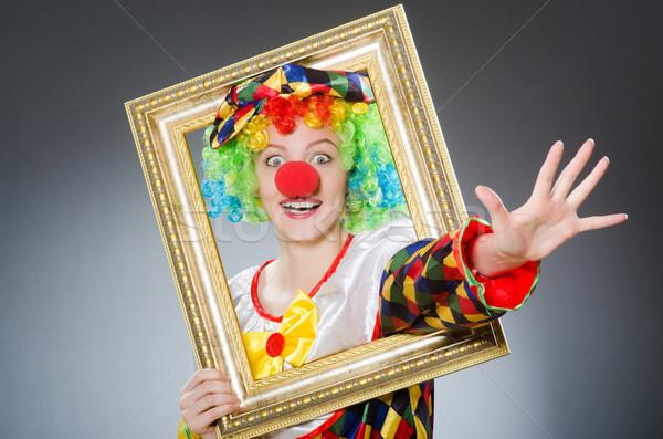 клоуна фоторамка смешные улыбка вечеринка рождения Сток-фото © Elnur