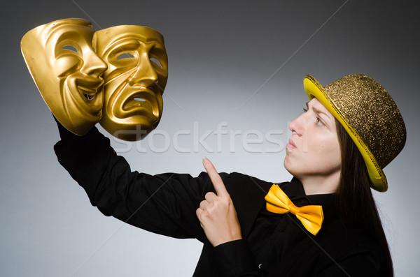 女性 マスク 面白い 芸術 劇場 ワーカー ストックフォト © Elnur