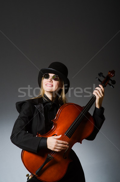 Young woman in musical concept Stock photo © Elnur
