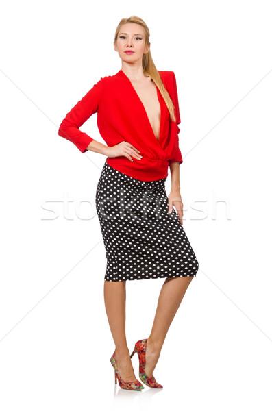 かなり ブロンド 少女 着用 赤 ブラウス ストックフォト © Elnur