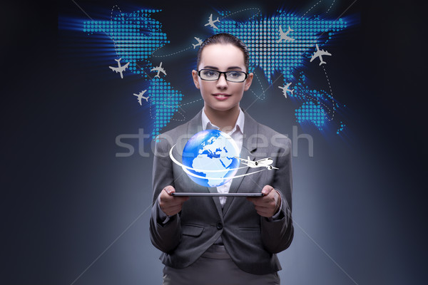 Businesswoman in air travel concept Stock photo © Elnur