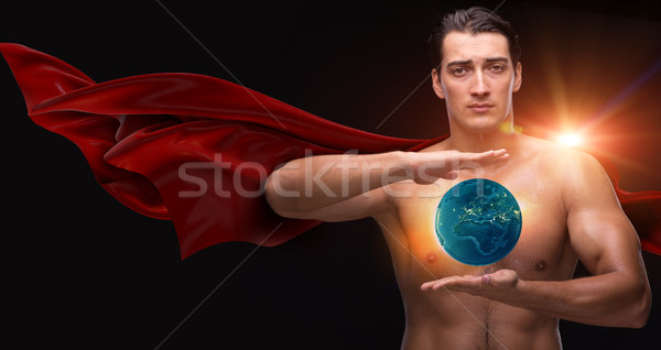 Man in red cover protecting the world Stock photo © Elnur