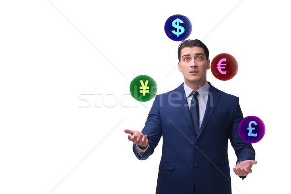 Imprenditore giocoleria valute soldi uomo Foto d'archivio © Elnur