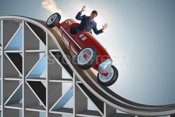 Işadamı sürücü spor araba spor arka plan Stok fotoğraf © Elnur