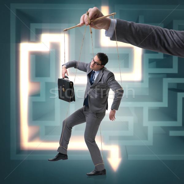 Empresário fantoche manipulado patrão homem trabalhar Foto stock © Elnur