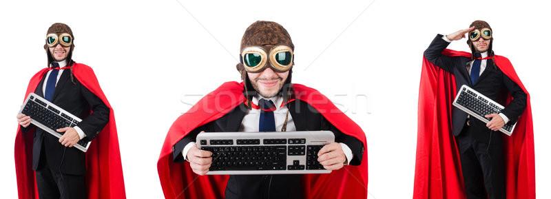 Uomo indossare rosso abbigliamento divertente tastiera Foto d'archivio © Elnur