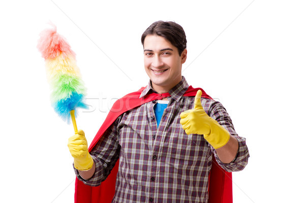 Super hero cleaner isolated on white Stock photo © Elnur
