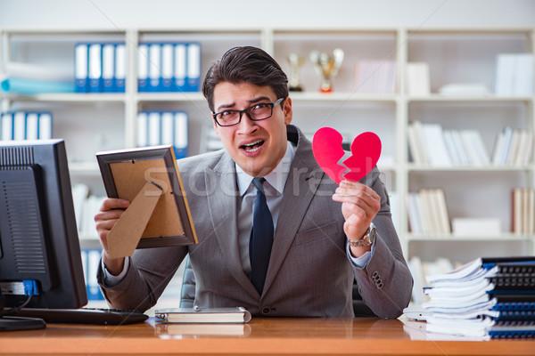 Businessman in saint valentine concept in office Stock photo © Elnur