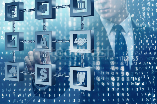 ビジネスマン 技術 セキュリティ ネットワーク 携帯 通信 ストックフォト © Elnur