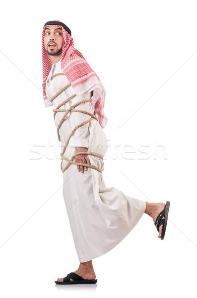 árabes empresario aislado blanco negocios trabajo Foto stock © Elnur