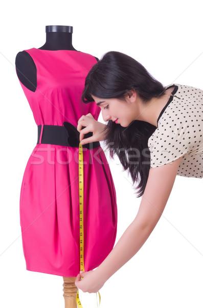 Jonge kleermaker geïsoleerd witte vrouw mode Stockfoto © Elnur
