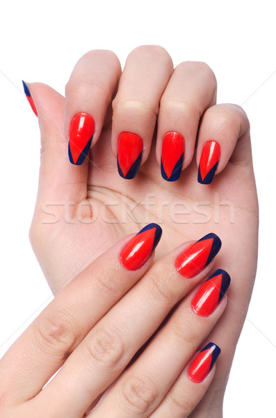 Nail art concept with hands on white Stock photo © Elnur