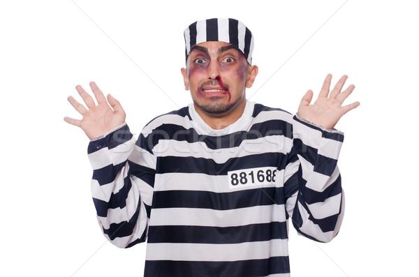 Prisonnier mauvais blanche visage droit police Photo stock © Elnur