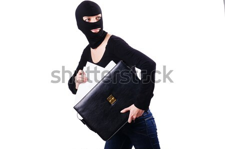 Industrial espionage concept with person in balaclava Stock photo © Elnur