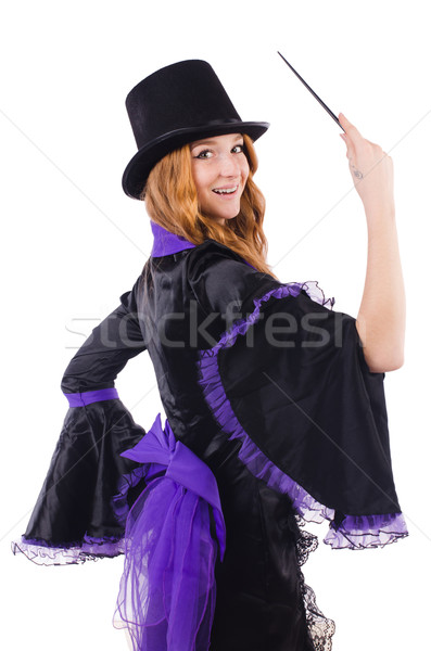 Woman magician isolated on the white Stock photo © Elnur
