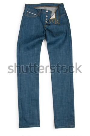 Moda pantolon beyaz model arka plan kot Stok fotoğraf © Elnur