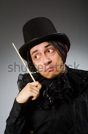 Frau Gangster Handfeuerwaffe weiß sexy Modell Stock foto © Elnur