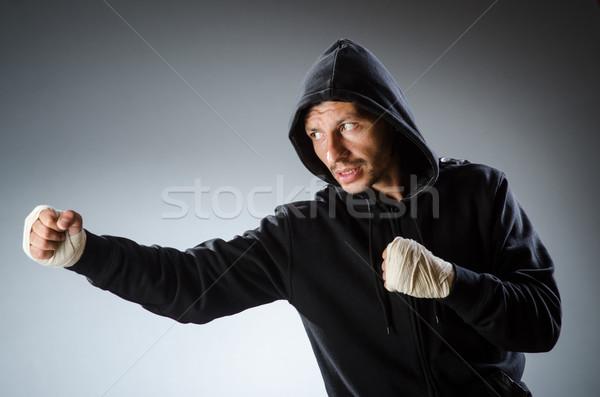 Stockfoto: Vechtsporten · vechter · opleiding · hand · fitness · vak