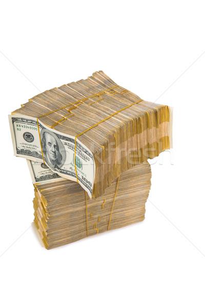 Amerikan dolar yalıtılmış beyaz iş Stok fotoğraf © Elnur