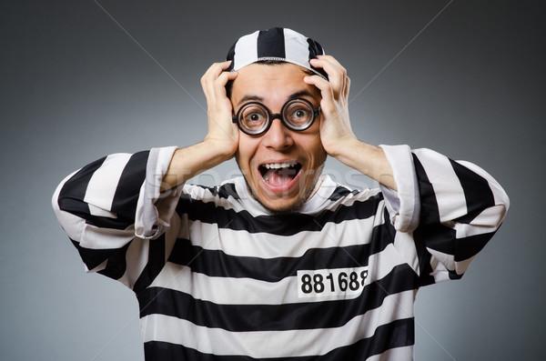 Prison inmate in funny concept Stock photo © Elnur