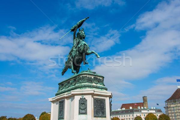 Statue of Archduke Charles in Vienna, Austria Stock photo © Elnur