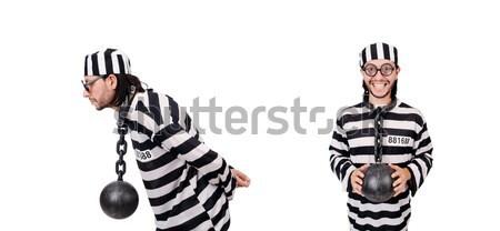 Börtön bennlakó izolált fehér férfi boldog Stock fotó © Elnur