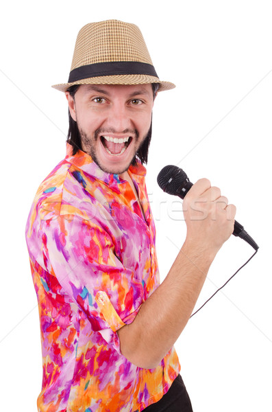 Man in colourful shirt isolated on white Stock photo © Elnur