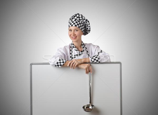Pişirmek kepçe tahta ev gıda eğlence Stok fotoğraf © Elnur