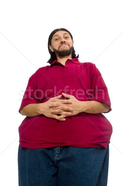 太り過ぎ 男 孤立した 白 健康 ディナー ストックフォト © Elnur
