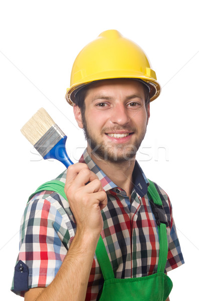 Industrial worker isolated on the white background Stock photo © Elnur