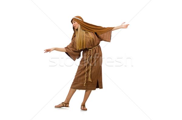 женщину средневековых арабских одежду белый Сток-фото © Elnur
