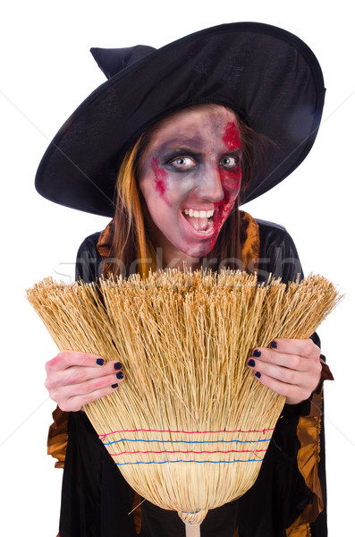 Scary ведьмой Хэллоуин девушки смерти черный Сток-фото © Elnur