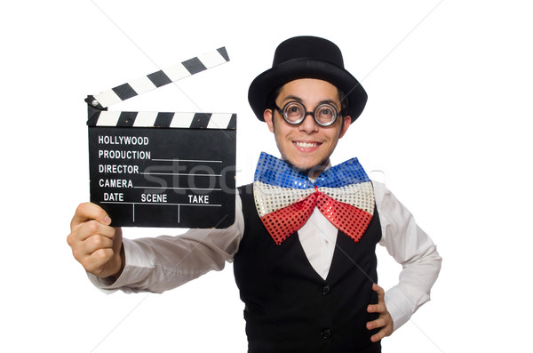Funny man wearing giant bow tie Stock photo © Elnur