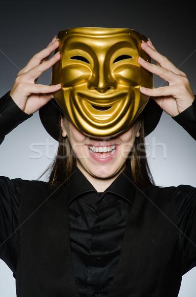 女性 マスク 面白い 顔 ワーカー 顔 ストックフォト © Elnur