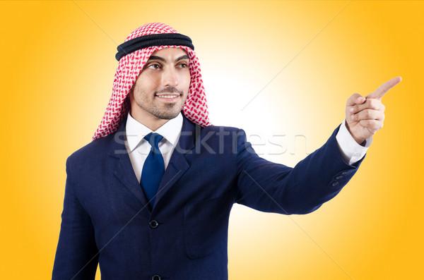 Árabe empresário virtual botões negócio Foto stock © Elnur