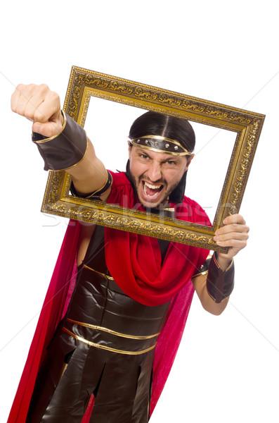 Gladiador quadro de imagem isolado branco homem Foto stock © Elnur