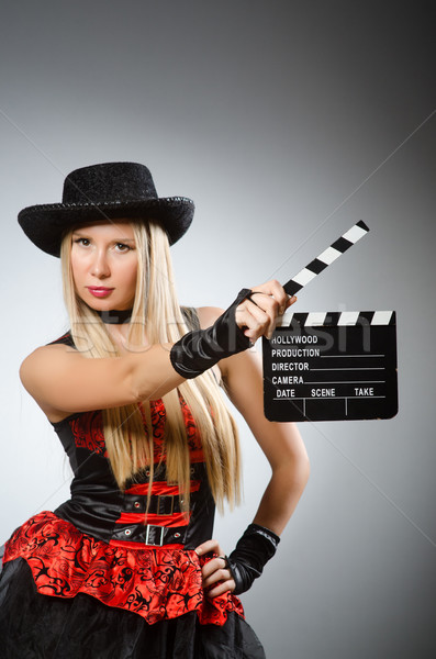 Woman in pirate costume - Halloween concept Stock photo © Elnur