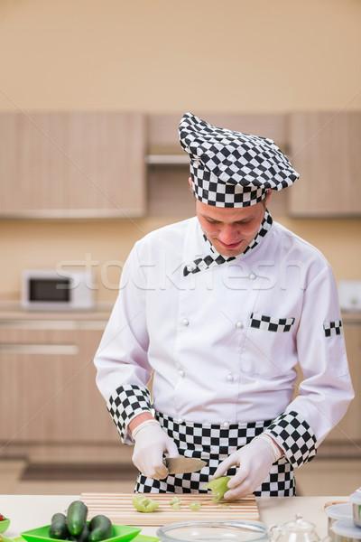 мужчины Кука кухне продовольствие стороны Сток-фото © Elnur