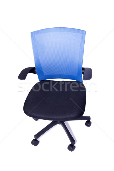 Blue office chair isolated on the white background Stock photo © Elnur