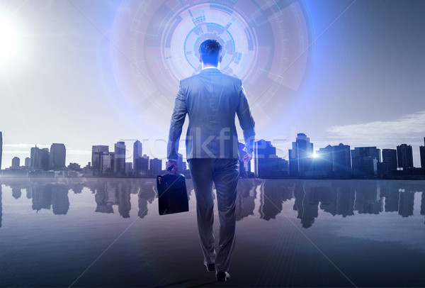 Businessman in global business concept Stock photo © Elnur