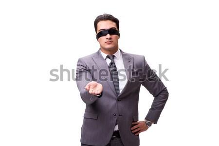 Bekötött szemű üzletember izolált fehér üzlet kéz Stock fotó © Elnur