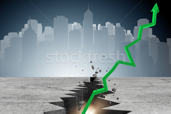 Economic recovery business concept - 3d rendering Stock photo © Elnur