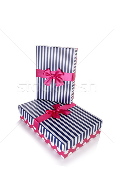 Giftboxes isolated on the white background Stock photo © Elnur