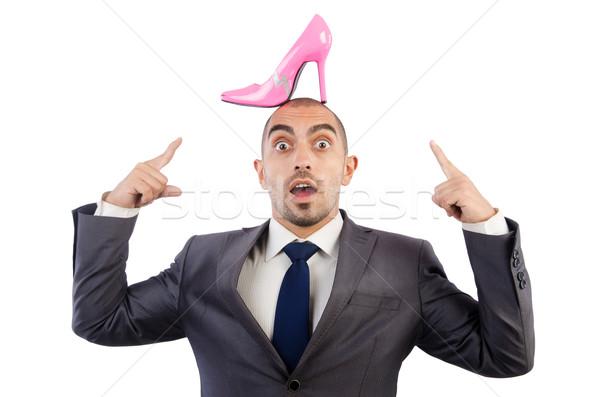Adam seçim ayakkabı arka plan işadamı siyah Stok fotoğraf © Elnur